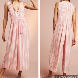 Anthropologie Visayas Striped TieNeck Jumpsuit NWT